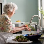 Remote voice communication from anywhere in the elderly person's living